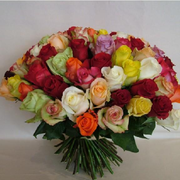 Roses Multicolores Les Fleuristes Paris